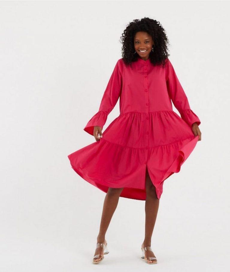 Памучна рокля Селена