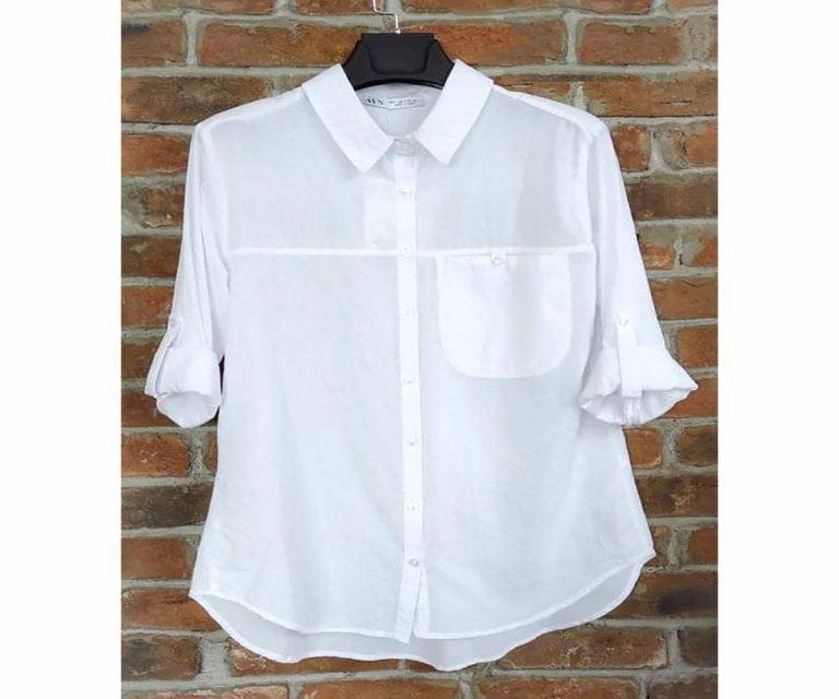 Памучна риза Един джоб